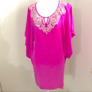 Other - Twelfth Street Pink Butterfly Sleeve Tunic